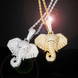 Iced Elephant Pendant