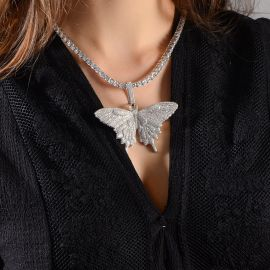 Women's Micro Pave Butterfly Necklace - Only Pendant