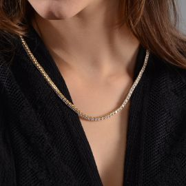 Women's 3mm Tennis Chain in 18K Gold