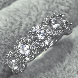 3.0 Ct Round Cut Halo Band in S925 Silver