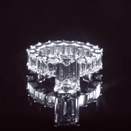 2.8 Ct Emerald Cut Ring in S925 Silver