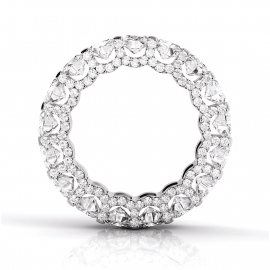 3.8 Ct Round Cut Micro Pave Band