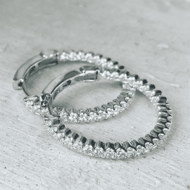 Classic Round Cut Hoop Earrings