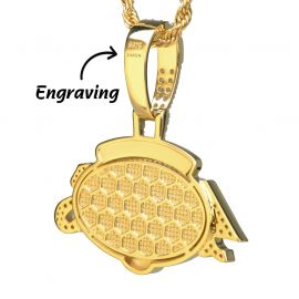 Iced S F 49ers Pendant in Gold