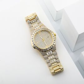 Iced Quartz Men's Fashion Watch in Gold