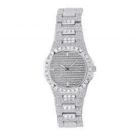 Iced Quartz Mne's Fashion Watch in White Gold