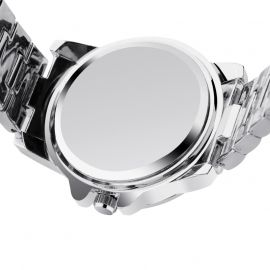 Iced Quartz Men's Fashion Watch in White Gold