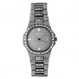 Iced Quartz Men's Fashion Watch in Black Gold