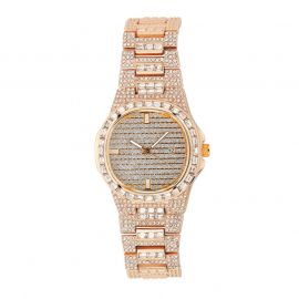 Iced Quartz Men's Fashion Watch in Rose Gold