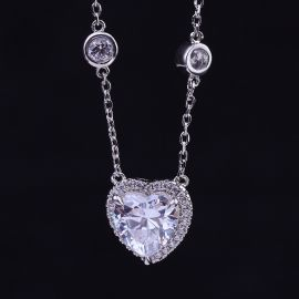 Heart-shaped Halo Necklace