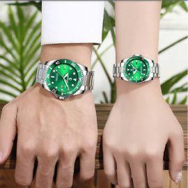 Couples Quartz Luminous Table Stainless Steel Watch