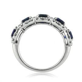 3.2 Ct Sapphire Round Cut Halo Band