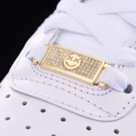 Iced Smile Emoji Lace Lock in Gold-Pair