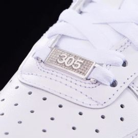 """Iced Miami """"305"""" Lace Lock in White Gold-Pair"""