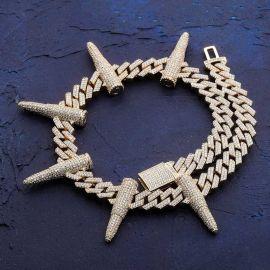 14mm Prong Bullet Cuban Link Chain