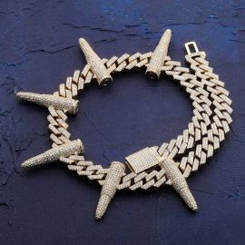 14mm Prong Bullet Cuban Link Chain