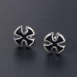 Titanium Steel Cross Stud Earrings