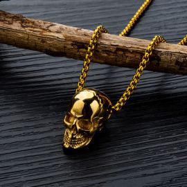 Fashion Titanium Steel Skull Pendant
