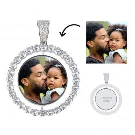 Iced Custom Rotating Photo Pendant