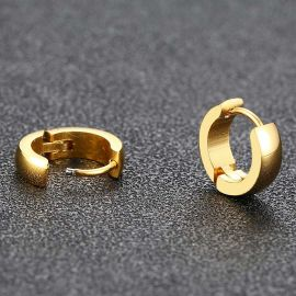 Stainless Steel Hoop Earrings in Gold