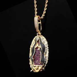 Our Lady of Guadalupe Pendant in Gold