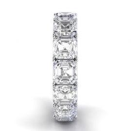 4.0 Ct  Asscher Cut Eternity Band
