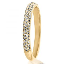 Classic Micro Diamond Eternity Band in Gold