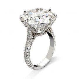 8-Claw Round Cut Ring
