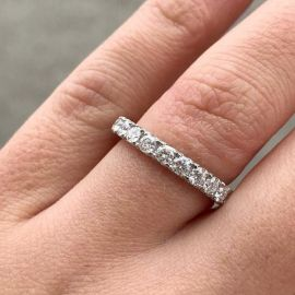 4.0 Ct Brilliant Oval Cut Ring Set