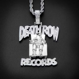 Iced Records Pendant in White Gold