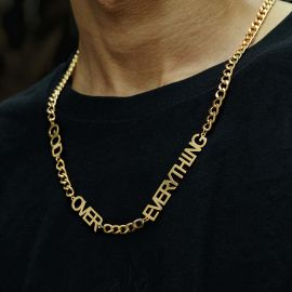 Fashion Hip-hop Letters Cuban Necklace