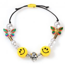 Smiley Face with Pearl Bracelet