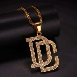 Iced Dream Chaser DC Pendant in Gold