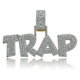Iced TRAP Pendant in Gold