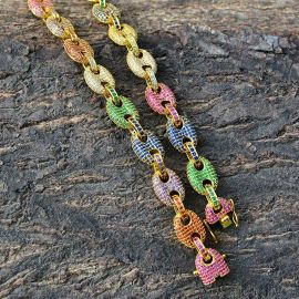Multi-color G-Link Necklace
