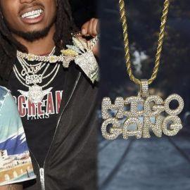 Iced MIGO GANG Pendant in Gold