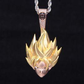 Super Saiyan Pendant in Rose Gold