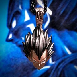 The Proud Saiyan Prince Pendant in Rose Gold
