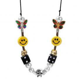 Fashion Smiley Beads Necklace