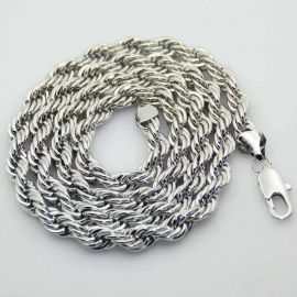 10mm 18K White Gold  Rope Chain