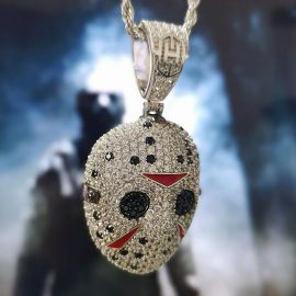 Iced Hockey Murder False Face Pendant