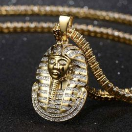 Iced Pharaoh Pendant in Gold