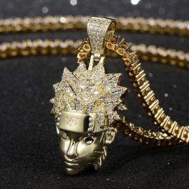 Ninja Pendant in Gold