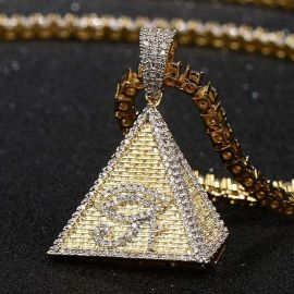 Iced Egyptian Pyramid Eye of Horus