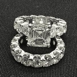 3.2 Ct Asscher Cut Ring Set