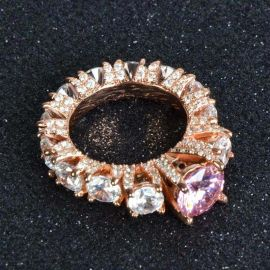 2.0 CT Three Stone Hip Hop Ring in Rose Gold