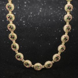 Iced Circle Chain in Gold