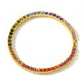 "4mm 8"" Multi-color Single Row Tennis Bracelet"