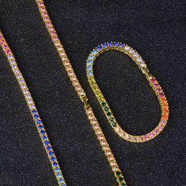 4mm Multi-color Tennis Chain Set