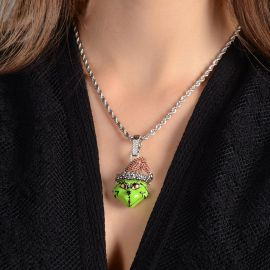 Women's Christmas Green Monster Pendant